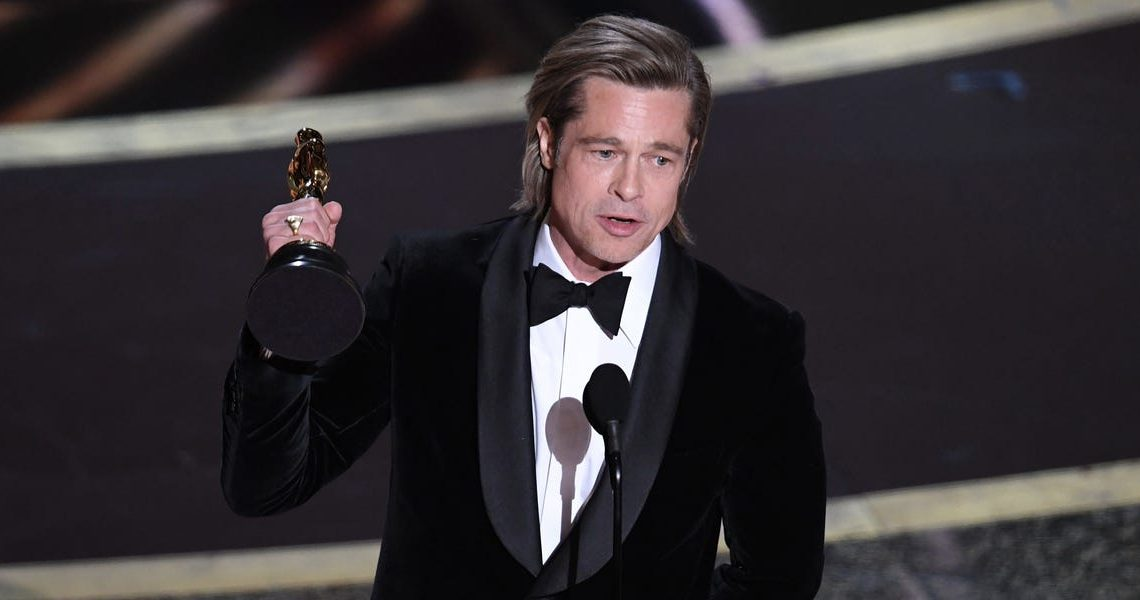Brad Pitt made a rare mention of his 6 kids in his Oscars speech and said: 'This is for my children who color everything I do'