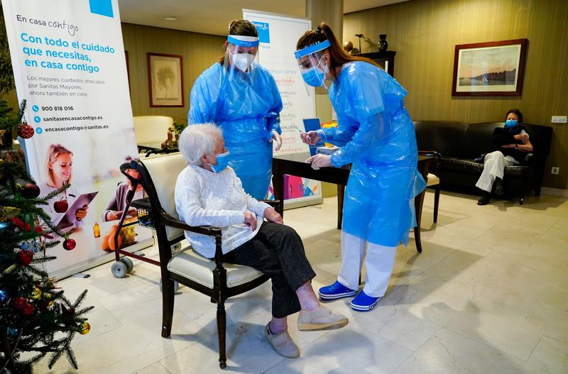 Spain close to vaccinating all nursing-home residents, on track for summer goals