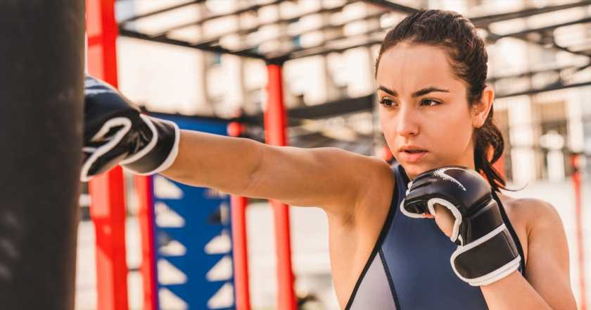 Take these social distancing-friendly boxing bag workouts to the gym